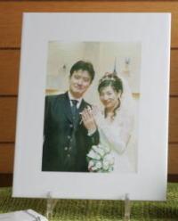 写真陶板制作例~結婚写真